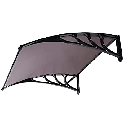 VIVOHOME Polycarbonate Window Door Awning 80 Inch × 40 Inch
