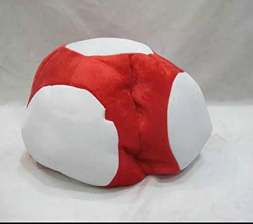 Super Mario - Gorro de peluche para disfraz de Super Mario