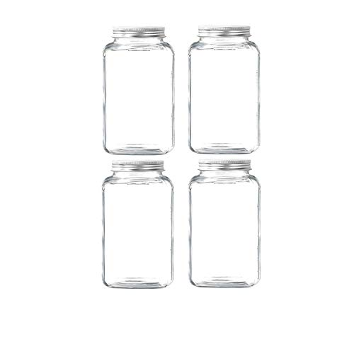 eoocvt Mason Jars 16 oz With Regular Lids and Bands, Ideal for Jam,Dishwasher Safe Mason Jar for Fermenting, Kombucha, Kefir, Storing and Canning Uses, Clear- Set of 4