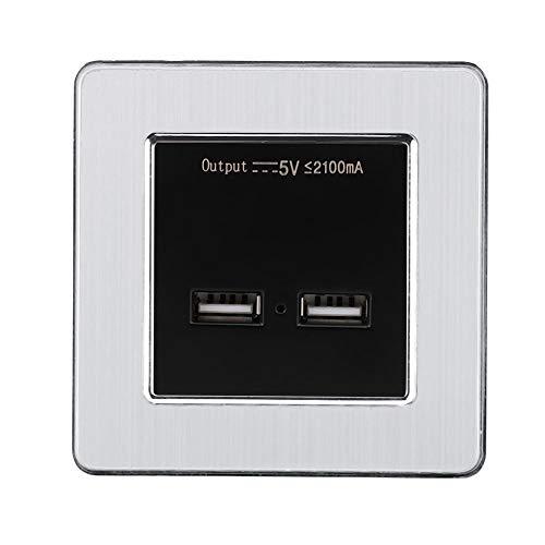 Natruss Adaptador USB Protección contra sobretensión Enchufe de alimentación Retardante de Llama Protección contra(Stainless Steel Panel)