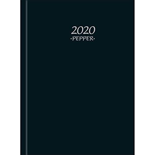 Agenda 2020 Costurada Pepper Tilibra Preta Unitária