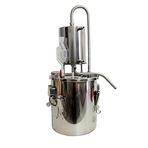 Nai-storage Máquina de destilación Equipo de refinación de Aceite Esencial, Equipo de elaboración de Vino Máquina de rocío Puro de Vino para Vapor (Size : 20L)