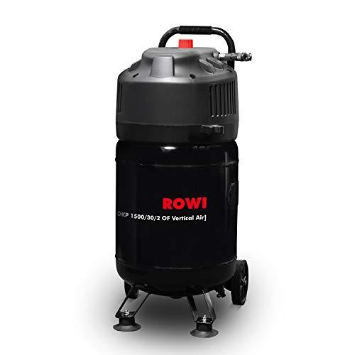 ROWI Druckluft Kompressor 1500 W, Ölfrei, 30 Liter Kessel