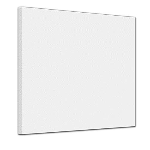 Bilderdepot24 Leinwand in weiß, bemalbare Premiumqualität, aufgespannt auf Galerie Keilrahmen - Echtholz - Quadrat-Format - 100x100 cm - 350g/m² - fertig gerahmt, 7 Farben verfügbar