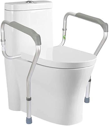 KFS Height Adjustable Toilet Safety Rails Frame, Bathroom Toilet Safety with Easy Installation Best for Seniors Elderly Disable Handicap 0601