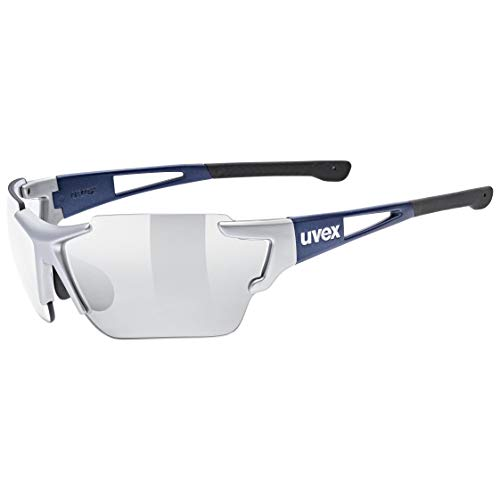 uvex Unisex– Erwachsene, sportstyle 803 race vm Sportbrille, silver blue metallic, one size