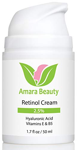 Retinol Cream for Face 2.5% with Hyaluronic Acid & Vitamins E & B5, 1.7 fl. oz.