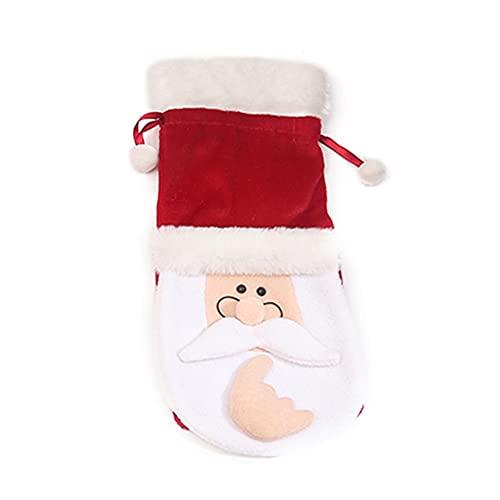 WHITULIP Claus Cubierta de botella de vino, hecho a mano gnomos suecos botella bolsas de regalo adornos hechos a mano hogar Vacaciones Decoraciones de Navidad