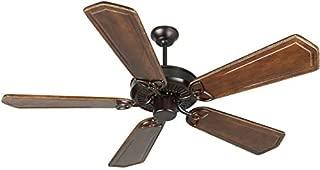 Craftmade K10973 Downrod Mount, 5 Ophelia Walnut/Vintage Madera Blades Ceiling fan, Oiled Bronze