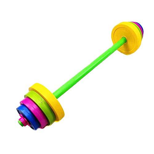N / C Barra Ajustable para niños, Juego de Juguetes con Pesas, 8 Placas de Peso Diferentes, para Entrenamiento para Principiantes, Brazo, Musculatura, Entrenamiento físico, Levantamiento de Pesas