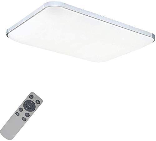 MIWOOHO 72W Dimmbar Ultraslim LED Deckenleuchte Modern Deckenlampe Schlafzimmer Küche Flur Wohnzimmer Lampe (Silber Dimmbar 3000-6500K)