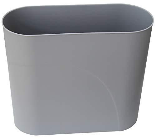 HMQCI Plastic Rectangular Small Trash Can Wastebasket, 3 Gallons, Garbage Container Bin (Grey, 5.9'/12.6'/10.6')