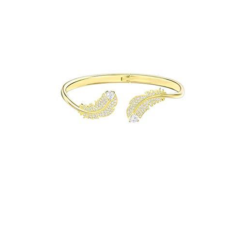ShenMiDeTieChui Señoras Brazaletes Silver_vergoldET Pulsera de Oro Chapado en Oro Chicas ásperas Pulsera chapada en Oro de la Madre Pulsera chapada en Oro de la Arena de la Madre (Color : Gold)