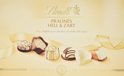 Lindt  Pralinés Für Kenner Hell & Zart, Auswahl heller Pralinen-Kreationen, 7 unterschiedliche Sorten, 2er Pack (2 x 200 g)