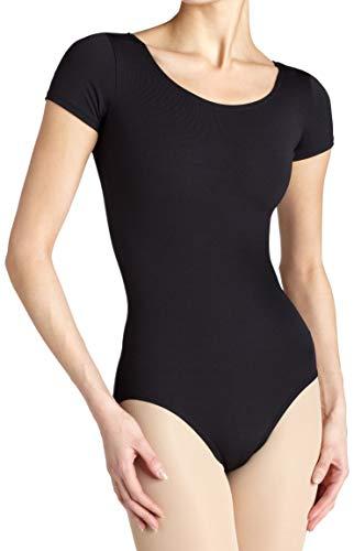 Capezio Women's Team Basic Short Sleeve Leotard,Black,X-Small