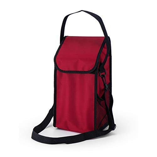 JSJJYJM Bolsa de almuerzo para comida caliente se puede lavar con aislamiento caliente con correa para el hombro, escuela, oficina, picnic, gimnasio (color: rojo)