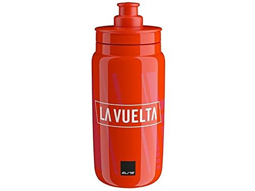 ELITE Rojo, Bidón Fly Vuelta España Iconic, 550 ml, Adultos Unisex, 550