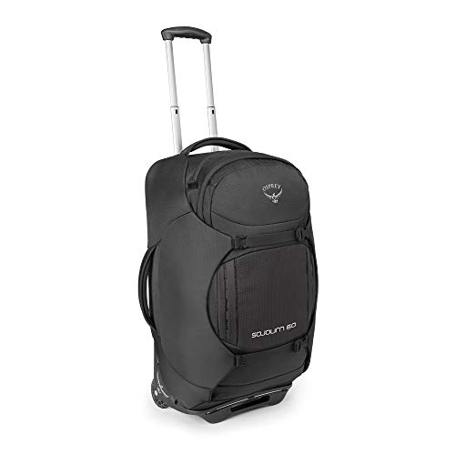 Osprey Packs Sojourn Wheeled Luggage, Flash Black, 60 L/25'