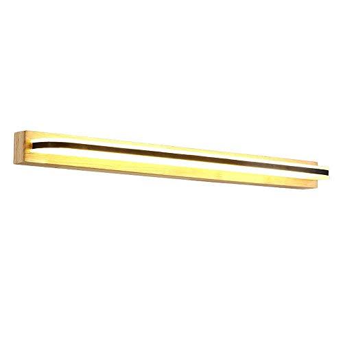 NBVCX Home Decoration Holz LED Bad Eitelkeit Spiegelleuchte Badezimmer Leuchten Spiegel Make-up Licht für Badezimmer Schlafzimmer Flure Treppen IP44 wasserdichte Badezimmer Wandleuchte