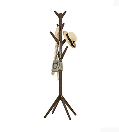 Cxjff Perchero de Madera Maciza Tipo de ramitas de árbol Estable Simple Percha de Ropa 3 Colores Opcional, Alto 173cm (Color : Dark Coffee)
