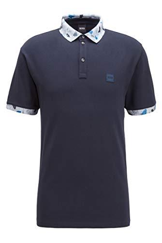 BOSS Mens Platinum Polo Shirt, Dark Blue (404), XL