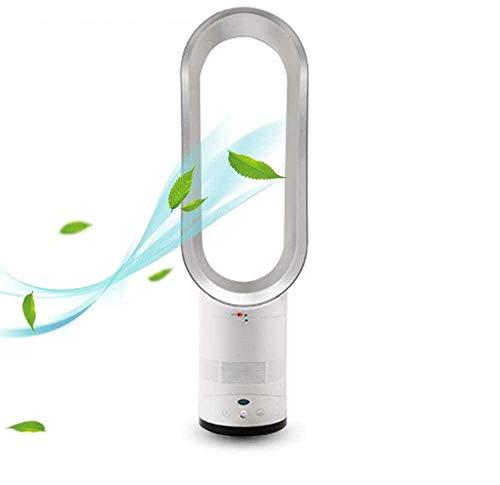 Ventilador sin aspas, Ventilador de torre con control remoto de pie, Enfriador de aire de seguridad de iones negativos de 25,6 pulgadas, Ventilador sin aspas para el hogar, la oficina, el dormitorio
