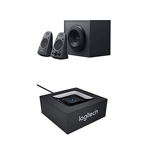 Logitech Adattatore Audio, Bluetooth, Nero + Logitech Z-625 Altoparlanti 2.1, 200 Watt, Nero