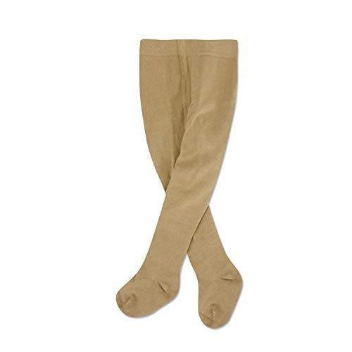 Baby Girl Tights Cable Knit Leggings Stockings Cotton Pantyhose Tights for Newborn Infants Toddler 4t-6t Months Beige 1 Pack