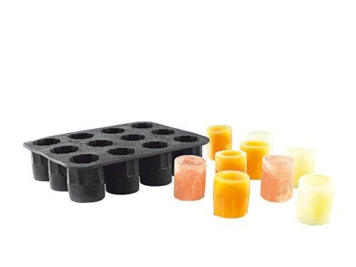 infactory Shotgläser aus Eis: Silikon-Form für 12 Schnapsgläser aus Eis 2 cl (Eiswürfel-Schnapsgläser)