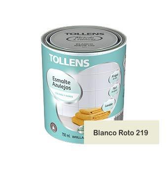 Tollens - Esmalte para azulejos al agua 750 ml (Blanco Roto 219)
