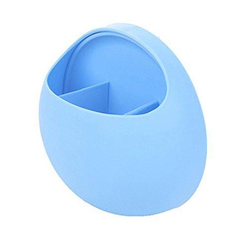 Zahnbürstenhalter Saugnapf, niedlicher Badezimmer Organiser, mit Saugnäpfen, Zahnbürsten-Halter Wandhalter Zahnpasta Wandmontage Zahnbürste Wandhalter für Kinder (Blau)