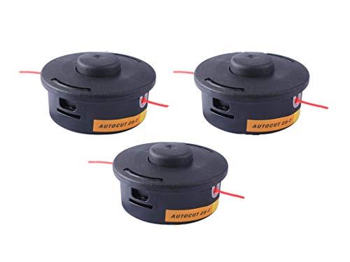 wewr AutoCut 25-2 Trimmer Head for Stihl FR106 FR108 FS44 FS48 FS50 FS55 FS56 FS70 FS80 FS83 FS85 FS90 FS100 FS110 FS130, 3 Pack