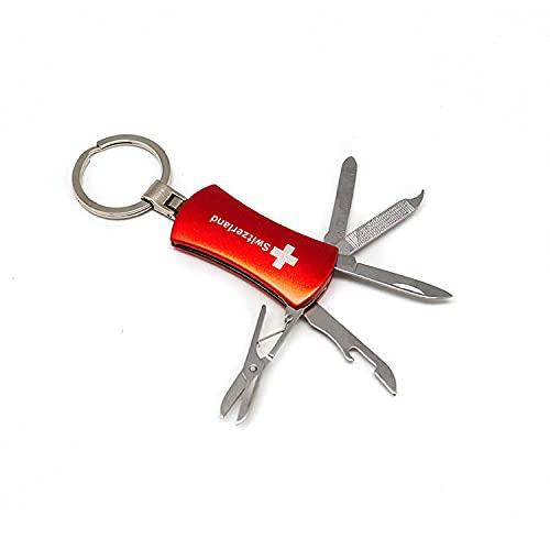topspirit llavero multi Tool 5en 1Switzerland–Multi herramienta con Cuchillo, abrebotellas, lima de uñas, regla y tijeras–5.5cm