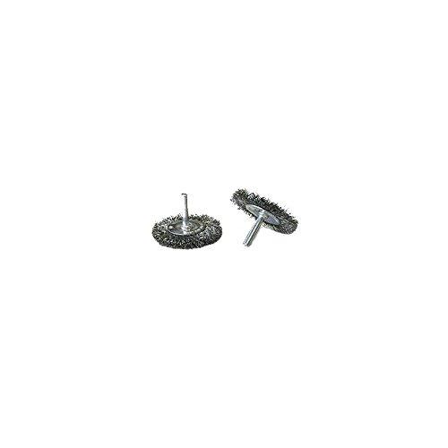 AES SPW. 0040 Brosse de roue de fil d'acier inoxydable et Spindle monté, 5,1 cm de diamètre
