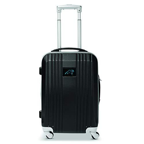 Denco NFL Carolina Panthers Hardcase Two-Toned Luggage Carry-On Spinner