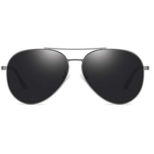 LCSD Gafas de Sol Película De Color Material Metalizado Polarizado Gafas De Sol UV400 De Color Negro/Montura De Pistola Lentes De Sol De Conducción for Hombres (Color : Gun)