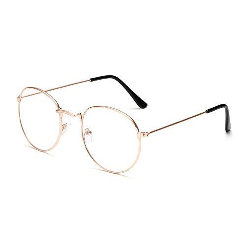 ZALE Strahlenschutz Oval Metall Lesebrillen, Brillen-freie Objektiv-Männer Frauen Presbyopie Brille Optische Brillen Brillen Prescription 0-4,0 Entlasten Sie die Belastung der Augen