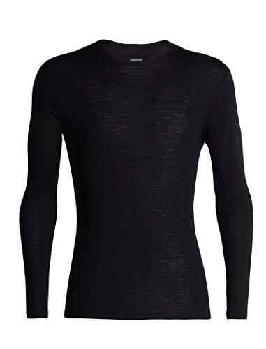 Icebreaker Herren Funktionsshirt 175 Everyday LS Crewe Merino Baselayer, Black, M, 104483