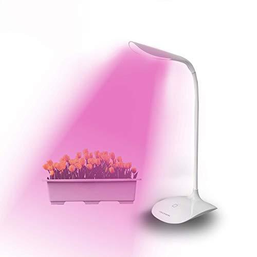 LED Wachsen Lichter Für Zimmerpflanzen, Volle Spektrum Wachsende Lampe, Hohe Leistung 2W Tischleuchte Pflanze Wachsen Fill Light, Weiß