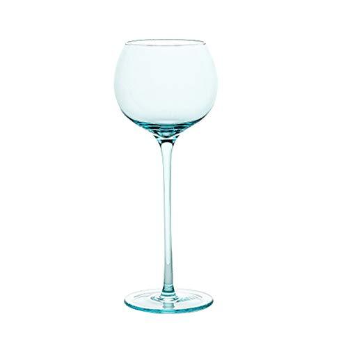 Einfachheit Becher Rotweinglas 450ml Champagnerglas Cocktail Glas Kristallglas Stemware Glas Haushalt 8.7x25 cm MUMUJIN (Color : Blue)