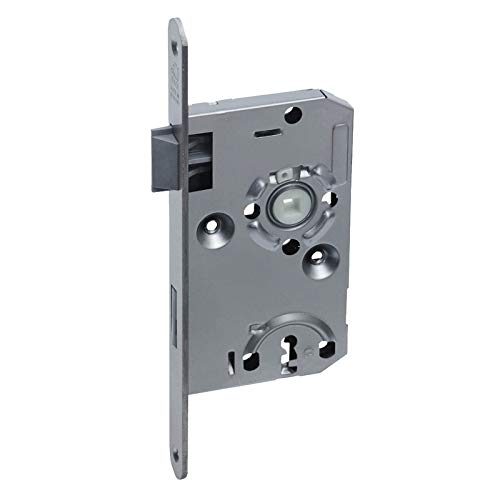 BASI® Zimmertür-Einsteckschloss DIN rechts | links ES922 Nickel silber Buntbart-Schlüssel Tür-Schloss abgerundeter Stulp, DIN rechts