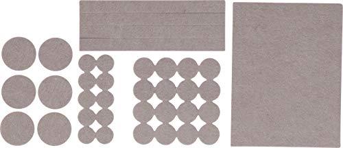 Kraftmann 80715   Filzgleiter-Satz   38-tlg   beige   selbstklebend   Möbelgleiter, Möbeluntersetzer