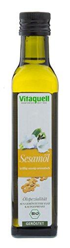 Vitaquell Sesam-Öl Bio, geröstet, kaltgepresst 250 ml
