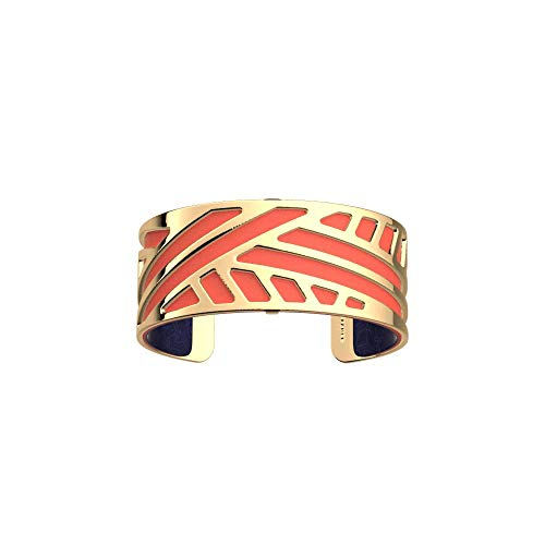 Les Georgettes - Bundle - Armreif Gold 25mm Ruban inkl. Ledereinsatz Koralle/Metallic Marineblau