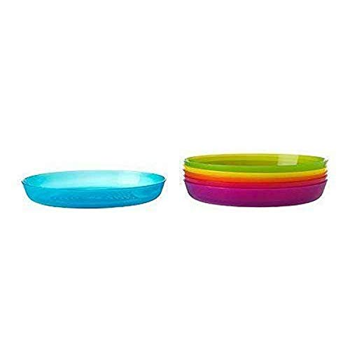Ikea Kalas BPA-Free Plate, Assorted Colors, 6-Pack
