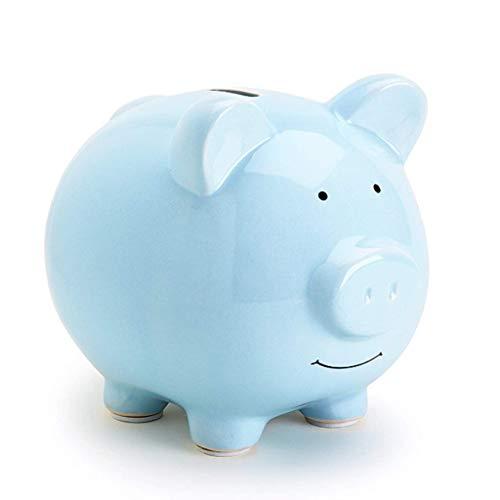 ZHONGTAI Hucha Cerdito Cerámica Piggy Bank Monedero de Gran tamaño Banco de Dinero Banco de Navidad único Regalos de cumpleaños para niños Niños Niñas Decoración para el hogar Hucha