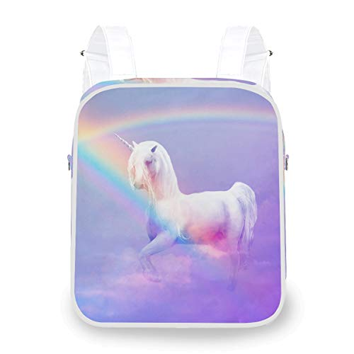 Shoulder Bag Mysterious Unicorn Sky Rainbow Multi Function Daypack Bookbag Casual Computer Backpack