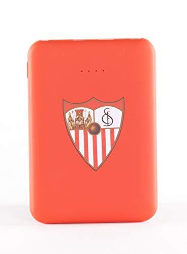 Oferta de Sevilla Fútbol Club-Power Bank- Bateria Externa para móvil. Producto oficial Sevilla FC 5.000 mAh. Entrada Tipo C y Micro USB. Salida USB. Tamaño pequeño y ligero