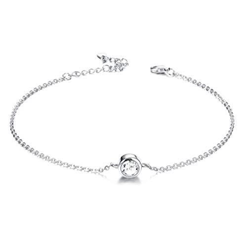 Besteel 925 Sterling Silver Anklet Bracelet for Women Girls Charm Chain...