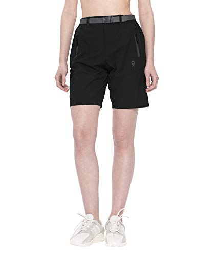 Little Donkey Andy Women's Stretch Quick Dry Cargo Shorts for Hiking, Camping, Travel Black Size L